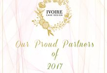 Proud Partners of 2017 by Ivoire Cake Design