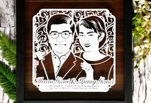 Wedding Gift - Face Sketch Bride and Groom by Cutteristic