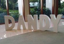Giant Letters L&J & Nautical Theme Setup by 3D Props Singapore