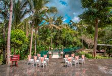 kayumanis ubud-wedding ceremony-water wedding by Kayumanis Private Villa and Spa
