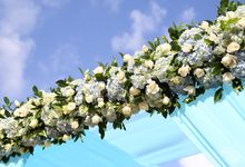 Wedding in Blue by Courtyard by Marriott Bali Nusa Dua