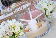 Beach Wedding Reception by The Perfect Moment