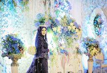 Royal Blue  for  Andien & Luqman Wedding by LAKSMI - Kebaya Muslimah & Islamic Bride