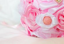 Pink Gold Bridal Brooch Bouquet by Marini Bouquets