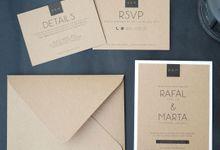 Rafal & Marta Wedding Invitation by Kanoo Paper & Gift