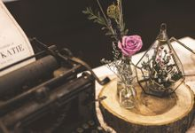 Blushy Vintage Wedding by The Bloomingbuds