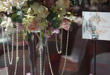 Wedding reception of Stephaine & Steven by Spring Cottage