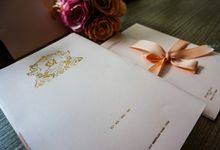 Cavin & Michelle Wedding in Peach by Bubble Cards
