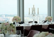 Wedding in the sky by Salt grill  and sky bar by Luke Mangan
