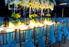 engagement & table setting by M2 decor