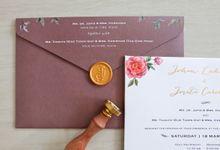 Johan & Jovita by La Voilla Invitation