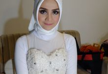 international wedding hijab by White Make Up and Hair Do