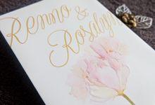 Renno & Rosalyn by La Voilla Invitation