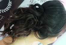 hair style for international bride by White Make Up and Hair Do