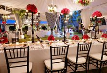 Wedding and Dinner of Christopher & Nindy by The Royal Santrian Luxury Beach Villa
