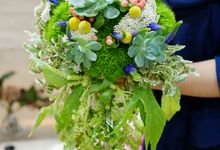 Cascading Bridal Bouquet by La Bloom Florist