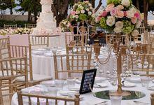 Wedding & Dinner Malvin and Pricilla by The Royal Santrian Luxury Beach Villa