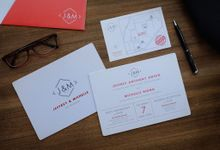 Red - Silver Exclusive Invitation by Memento Idea