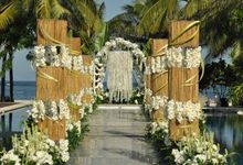 Water Wedding & Dinner Xiao Yan and Gong Sinuo by The Royal Santrian Luxury Beach Villa