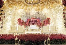 Red & White Wedding Decoration by Four Points by Sheraton Bandung