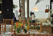 Wedding Dinner Felicia & Marco by The Royal Santrian Luxury Beach Villa