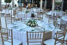 Wedding Dinner of Alejandro & Cindy by The Royal Santrian Luxury Beach Villa
