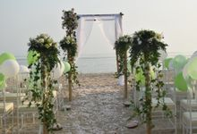 Wedding by the beach by Novotel Lombok Resort and Villas