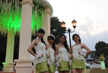 Bumi Sangkuriang - Lime Green gown by Various Dance Enterprise