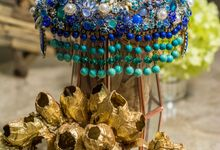Blue Oasis by Brooch Centerpieces on Etsy!