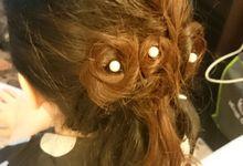 Hair do for Bridesmaid at Kempinski Hotel - Jakarta by Novia Limey Make Up Artist
