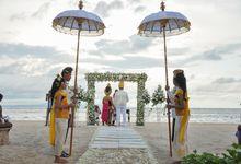 Dolan & Simone Beach Wedding by The Royal Santrian Luxury Beach Villa