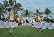 Wedding Dinner Adrian & Andreanita by The Royal Santrian Luxury Beach Villa