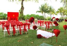 An Oriental Wedding by the Beach by Shangri-La Rasa Sayang Resort