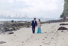 Aung & Hnin Wedding Portraits at Beach by Zion Photography