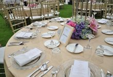Wedding Dinner Kusuma & Yolanda by The Royal Santrian Luxury Beach Villa