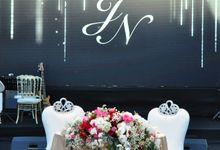 Wedding & Dinner of Jey and Novi by The Royal Santrian Luxury Beach Villa