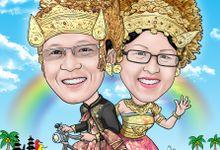 Wedding Caricature by BOG-BOG Bali Cartoon Souvenir