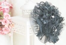 black small lady hat by mignon headdresses