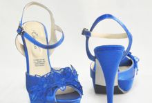 Elizabeth Floral Blue by Evaldo Bridal Shoes