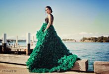 Emerald Fur Skirt by Etiquette