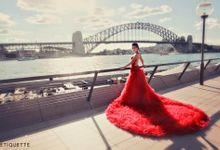 Red Romantic Dress by Etiquette