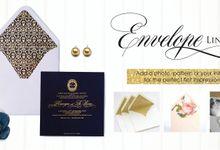 Custom Envelope & Envelope Liners by PAPEROSE WEDDING SDN. BHD.
