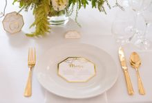 Geometric Gold by Tropica Weddings