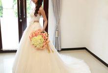 Korea Wedding Dress in Nude color by Wedding Island