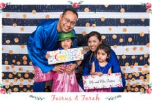 Fairus and Farah Wedding Day Photobooth Photography at Gurame Indonesian Restaurant Singapore by The Explosive Booth