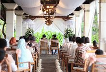 Intimate Nikah by the beach by Balimuslimwedding.com