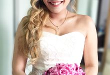Actual Day Bridal Makeup and Hairstyling (Amanda + Joe) - Bohemian Chic by Sylvia Koh Makeup and Hairstyling