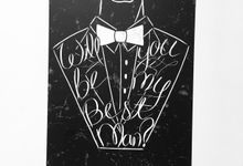 Best Man & Groomsmen Invitation Cards by Shleigh's Décor