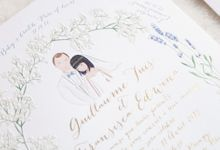Custom Wedding Invitation Guillaume & Fransisca by Belle Pivoine