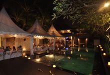 Wedding dinner reception by Karma Jimbaran